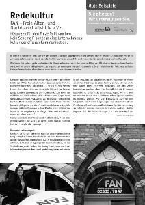 """Interview """"FAN – Freie Alten- und Nachbarschaftshilfe e.V."""""""