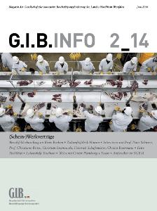 """GIB, Juni 2014 """"Magazin der Gesellschaft für innovative Beschäftigungsförderung des Landes Nordrhein-Westfalen"""""""
