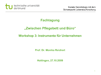 """Vortrag """"""""Instrumente für Unternehmen"""" """""""